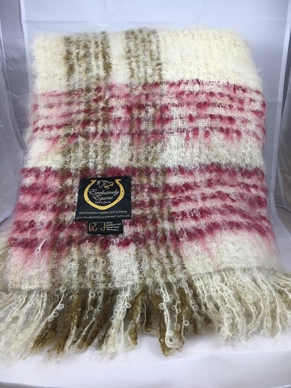 Kid Mohair Throw - Ruby by WHEW