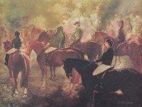 Unframed equine art by Helen Marioncu