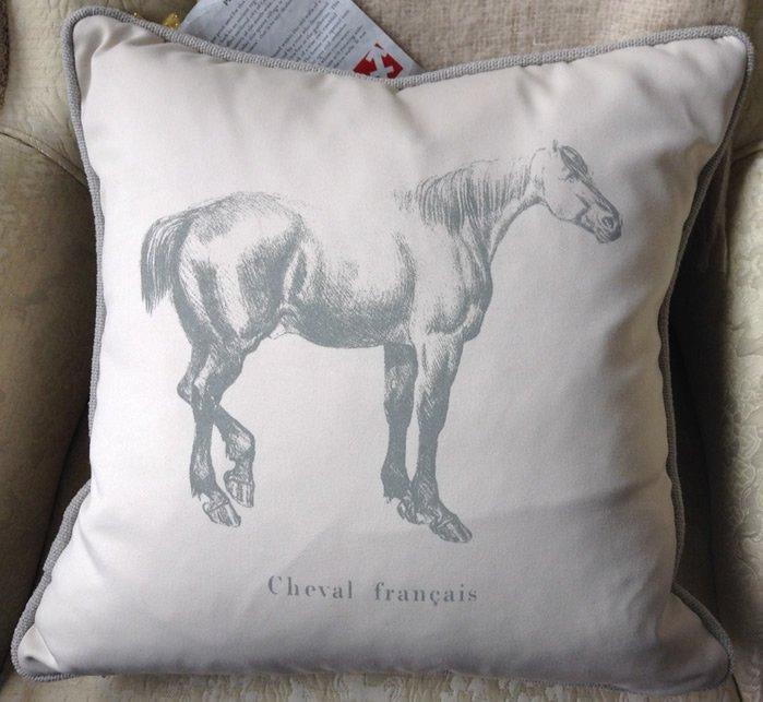 Designer horse pillow