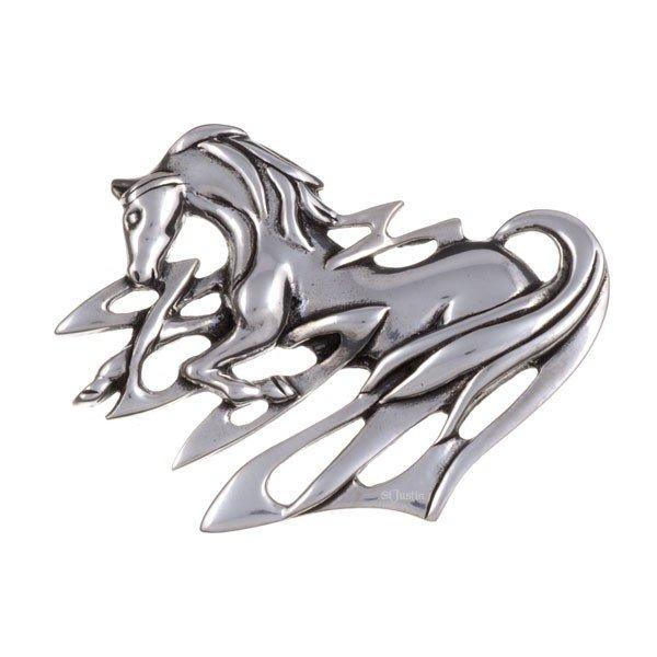 Pewter Horse Brooch Ontario Canada