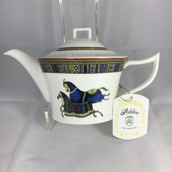 Adeline Fine Porcelain Horse Tea Pot