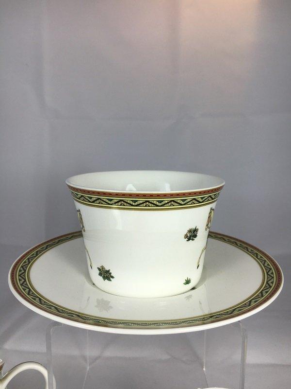 Aldeline Fine Porcelain Horse Tea Cup & Saucer - Side
