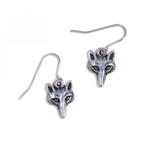 Fox Head Drop Earrings