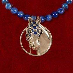 Secretariat Blue Enamel Lapis Pendant - Jane Heart