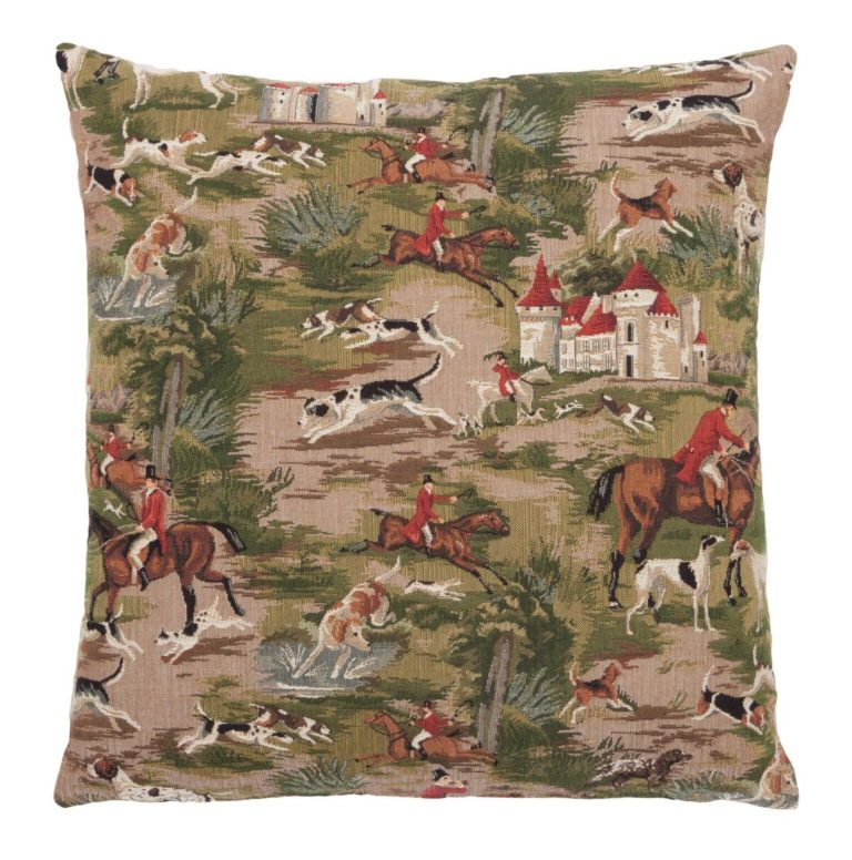 Horses & Hounds Tapestry Square Cushion