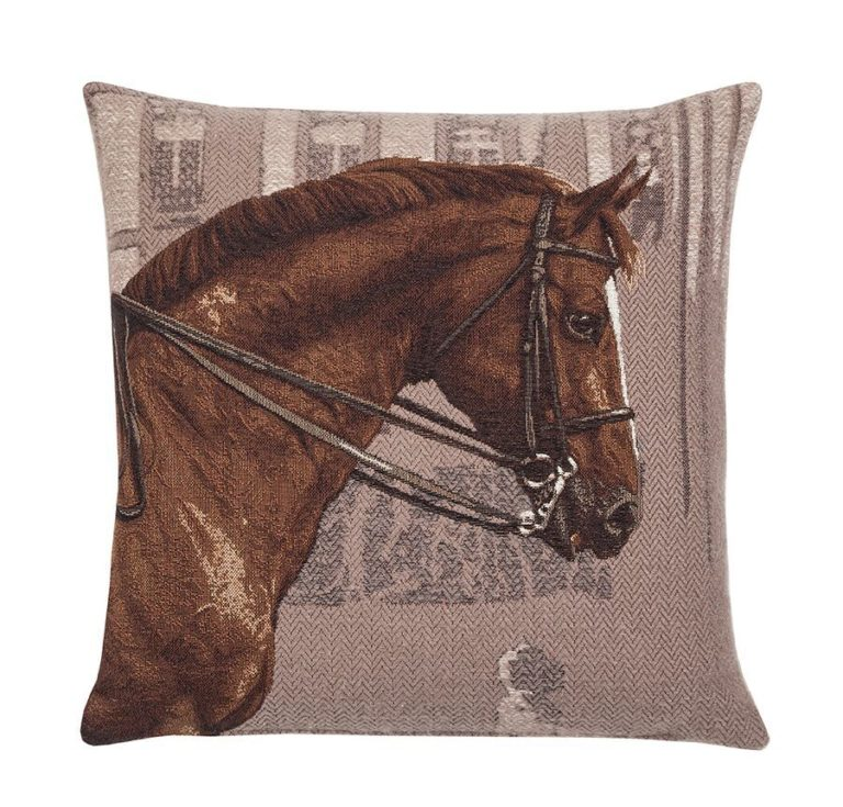 Chestnut Horse Fine Tapestry Cushion