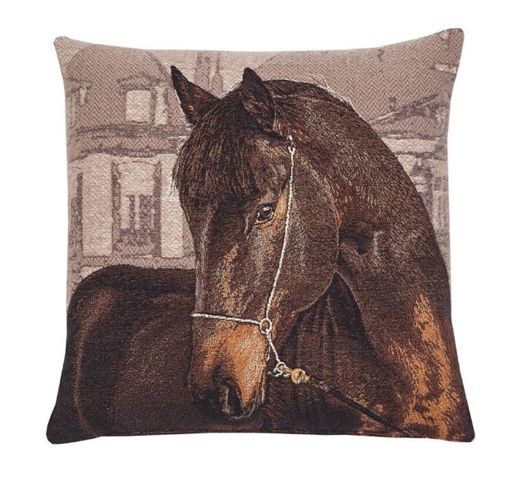 Bay Horse Fine Tapestry Cushion