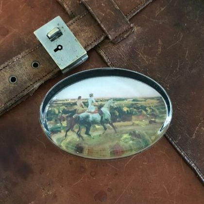 Paperweight Two Lady Riders